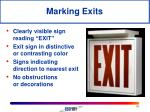 marking exits