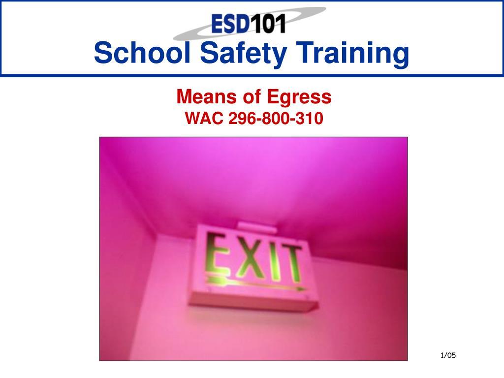 school safety training l.