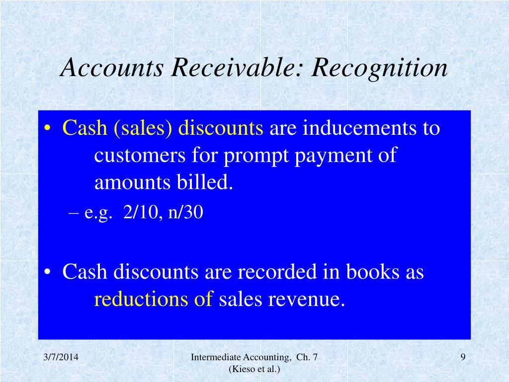 Accounts Receivable: Recognition