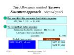 the allowance method income statement approach second year16