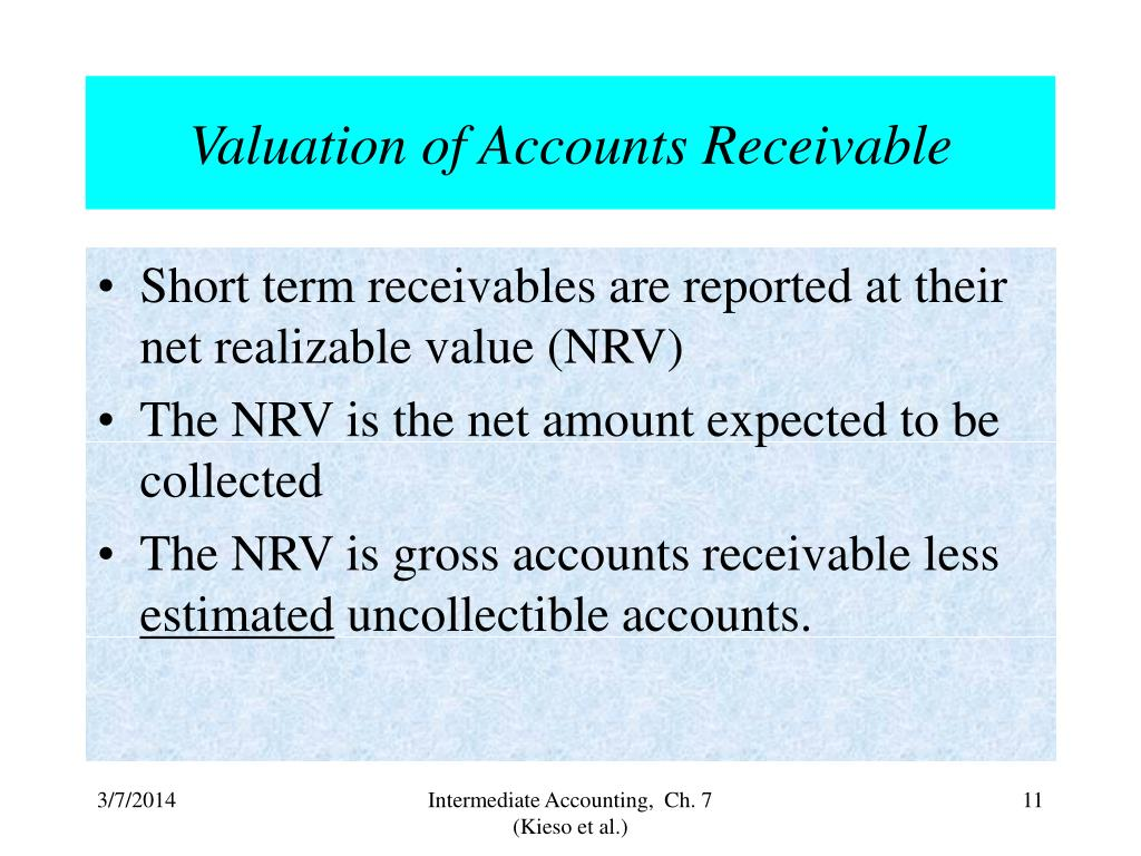 Valuation of Accounts Receivable