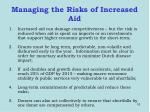 managing the risks of increased aid