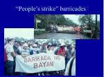 people s strike barricades