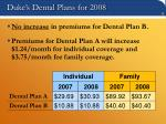 duke s dental plans for 2008