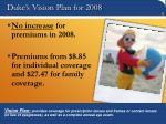 duke s vision plan for 2008