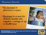 pharmacy benefits