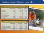 reimbursement account examples