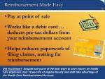 reimbursement made easy