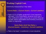 working capital cont5