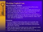 working capital cont6