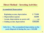 direct method investing activities