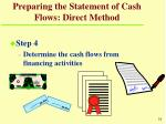 preparing the statement of cash flows direct method31