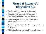 financial executive s responsibilities6