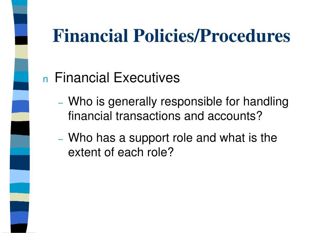 Financial Policies/Procedures
