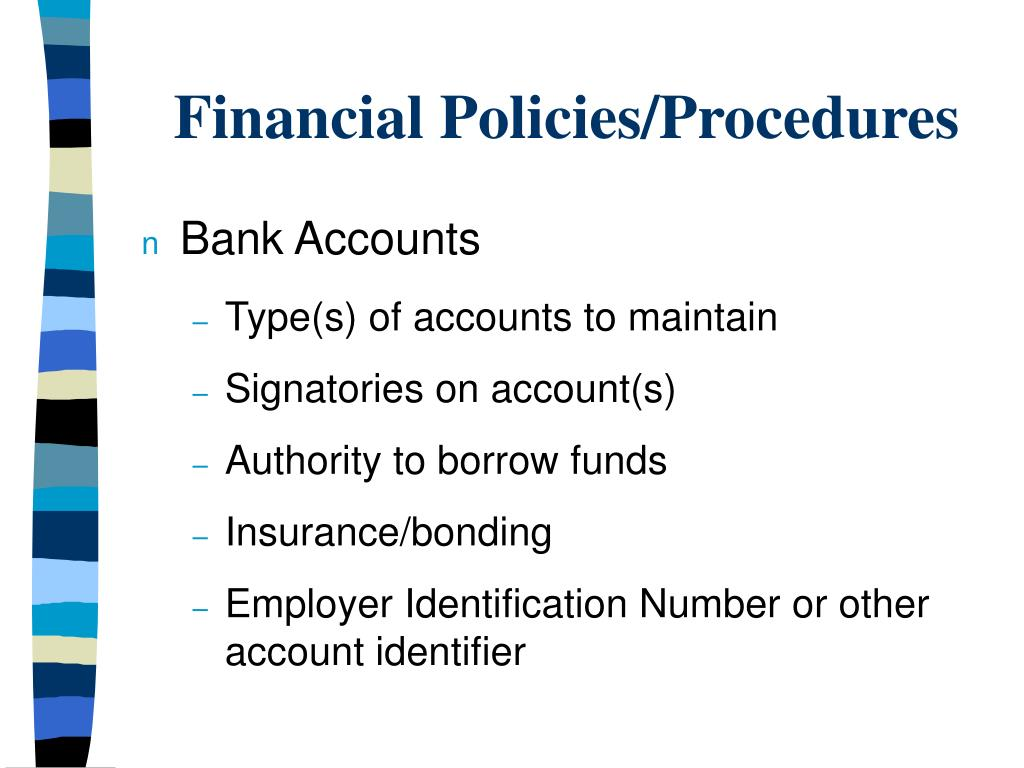 accounting procedures of bank