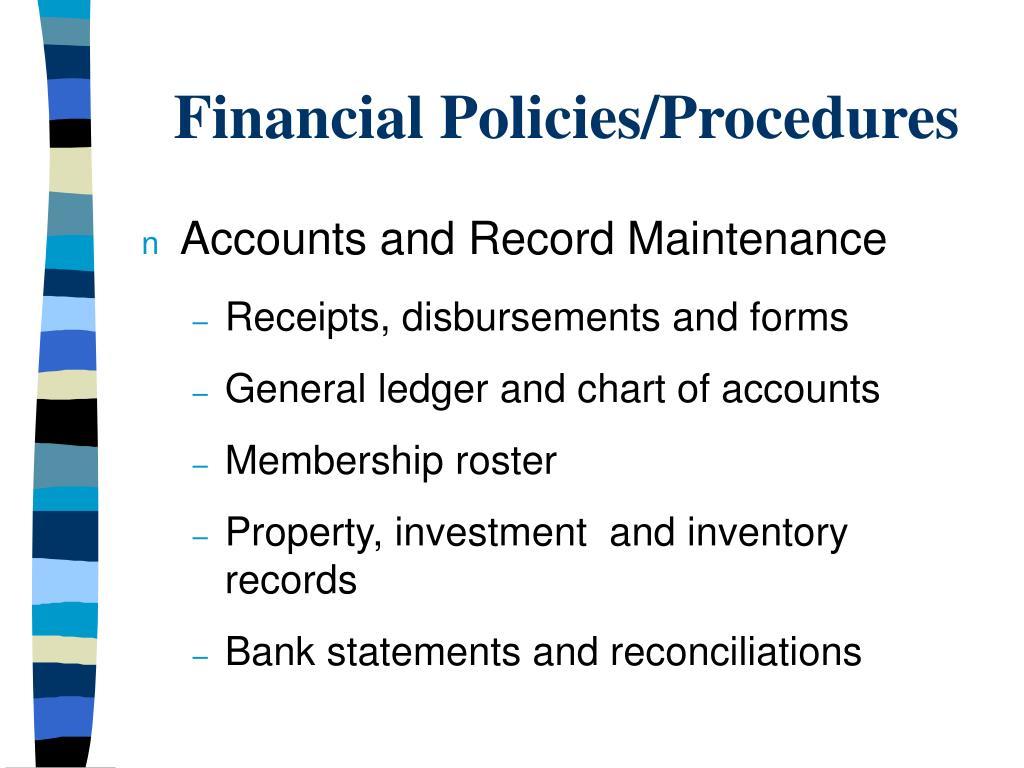 Accounts and Record Maintenance