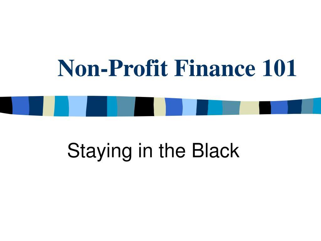 non profit finance 101 l.