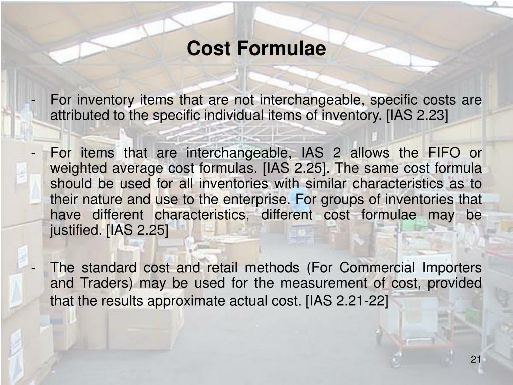 Cost Formulae