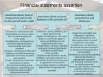 financial statements assertion
