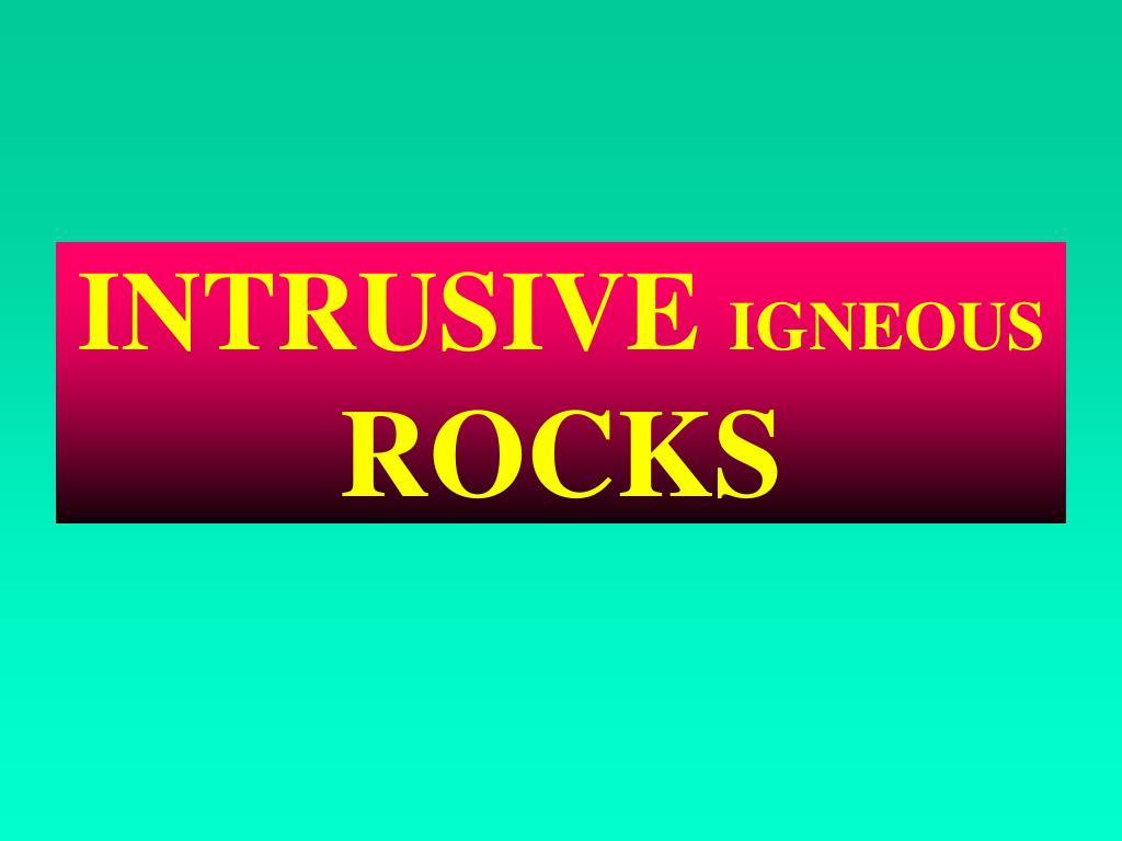 intrusive igneous rocks l.