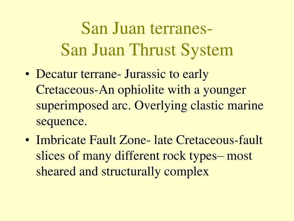 san juan terranes san juan thrust system l.