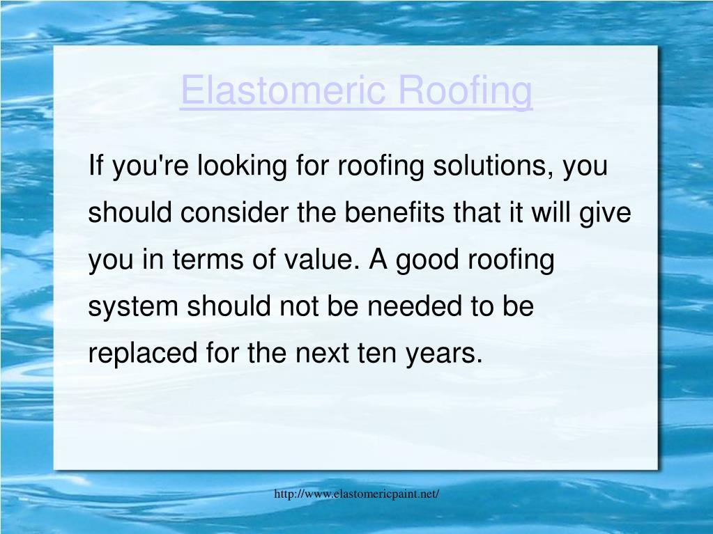 elastomeric roofing l.