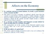 affects on the economy