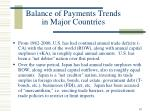 balance of payments trends in major countries
