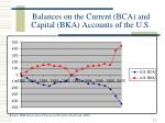 balances on the current bca and capital bka accounts of the u s
