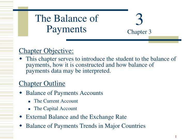 the balance of payments n.