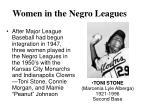 women in the negro leagues