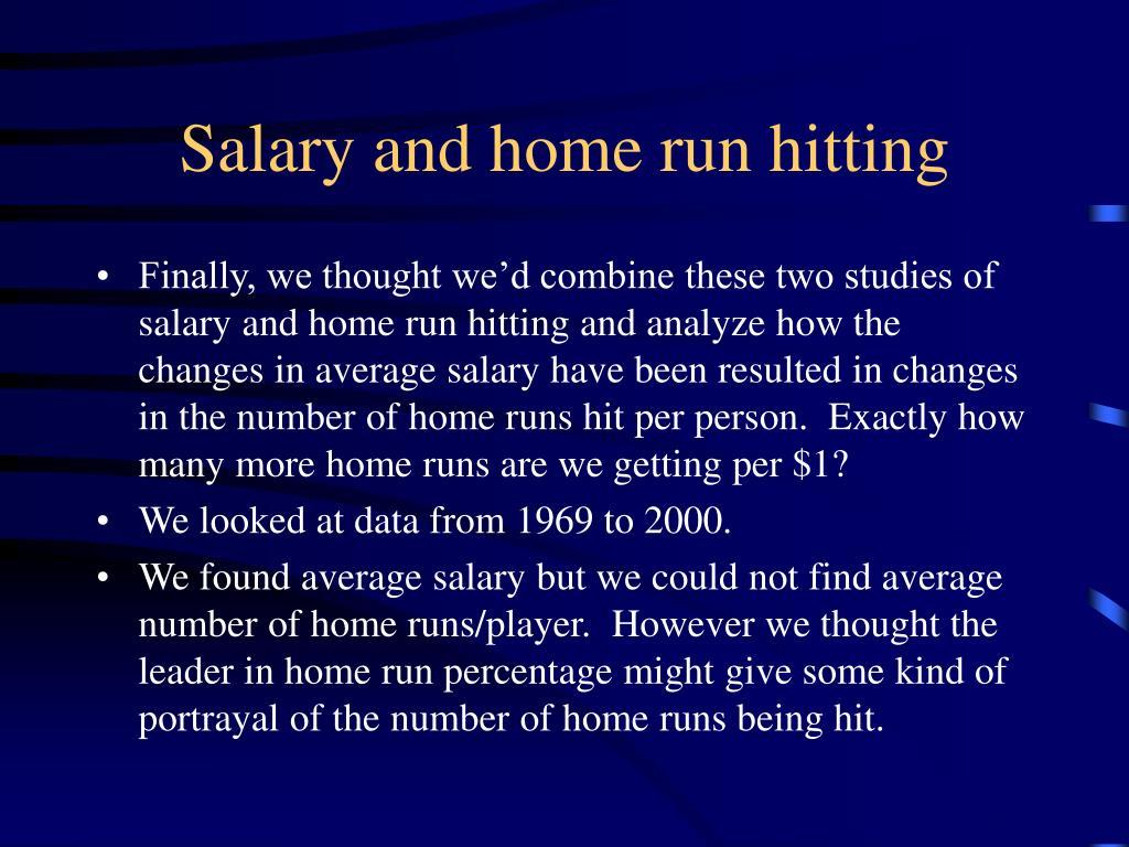 Salary and home run hitting