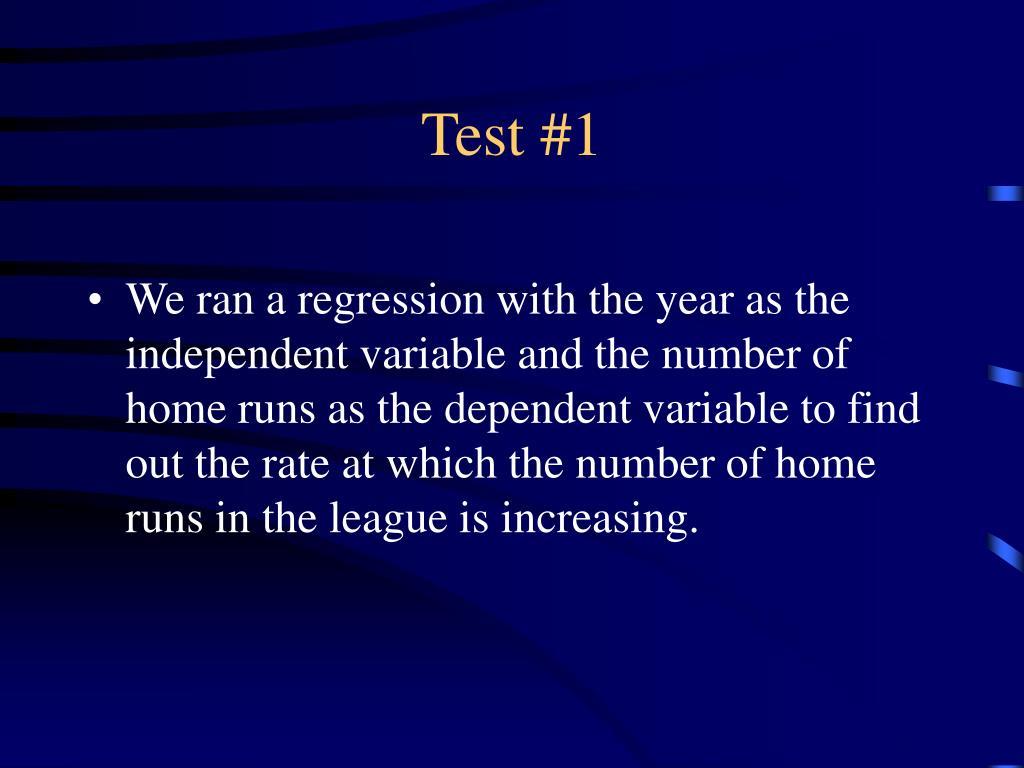 Test #1