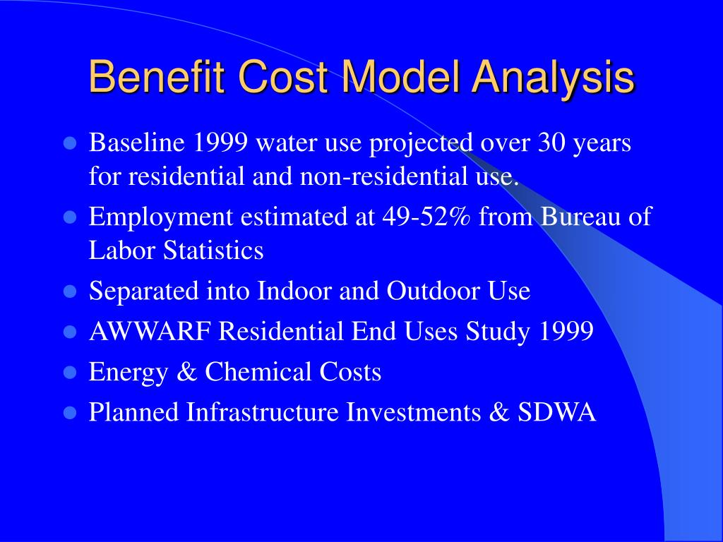 Benefit Cost Model Analysis