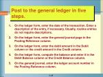 post to the general ledger in five steps