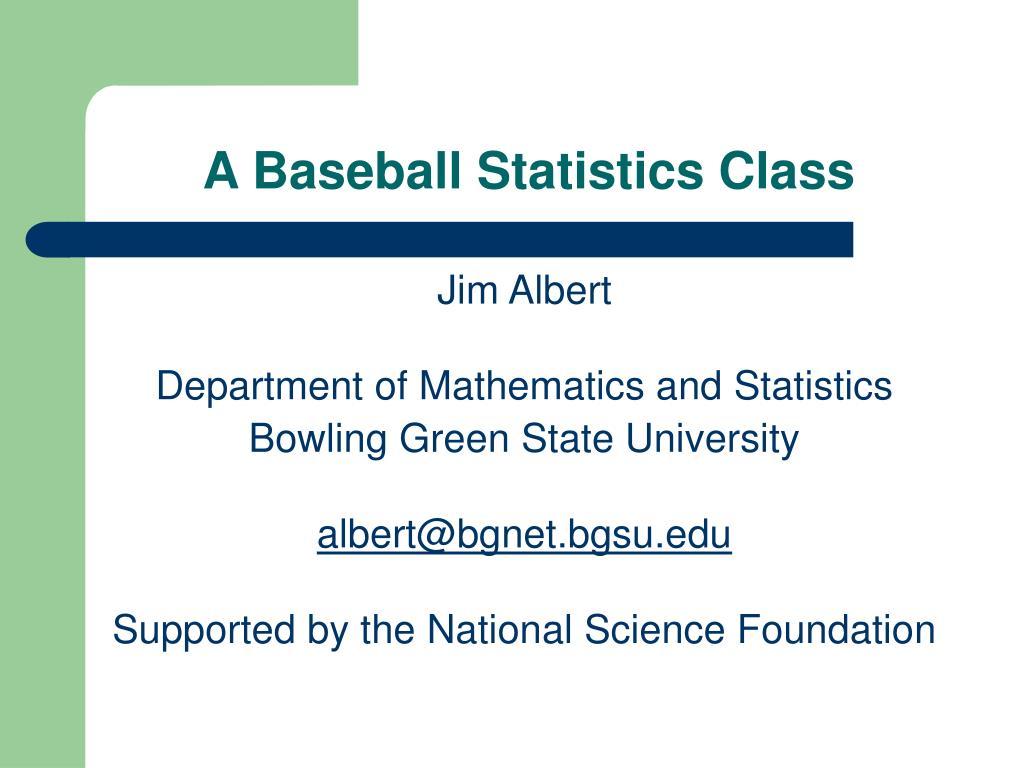 a baseball statistics class l.