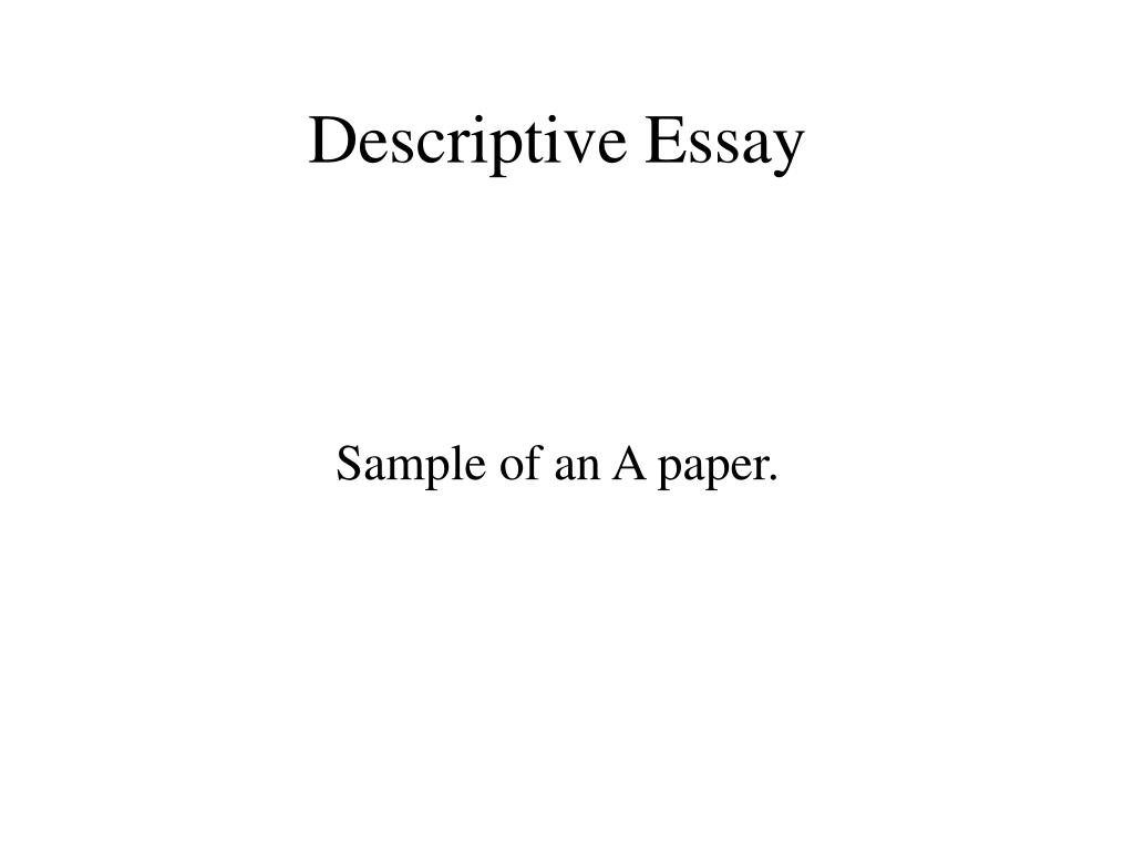 descriptive essay l.