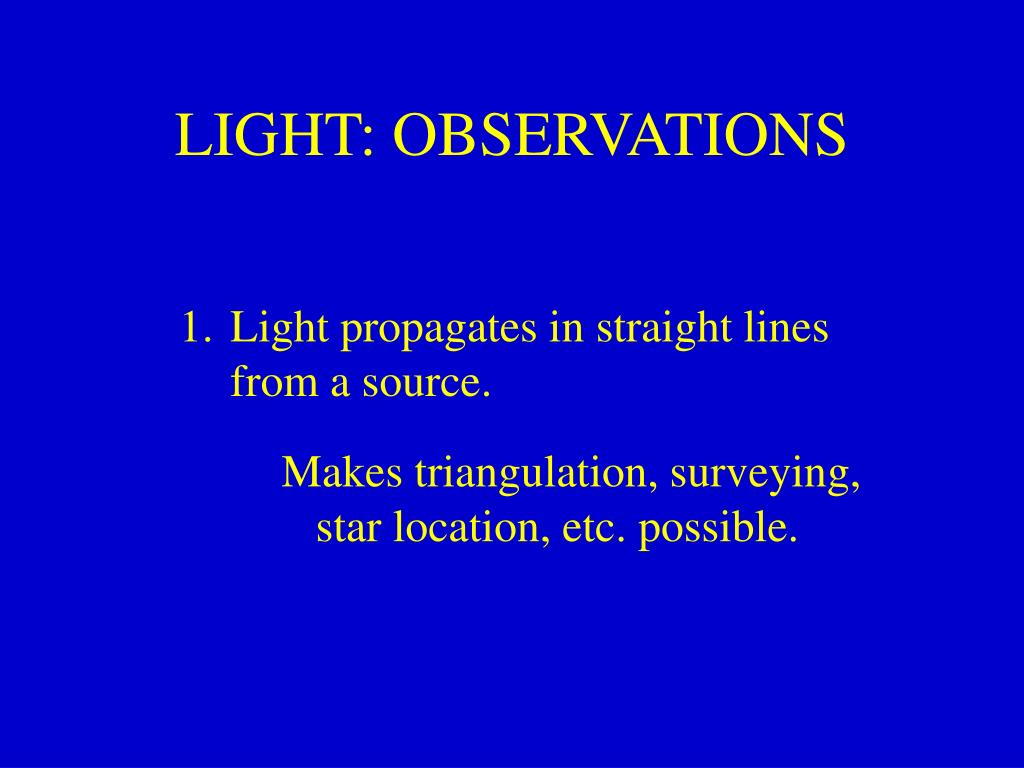 light observations l.