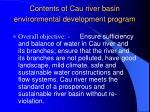 contents of cau river basin environmental development program10