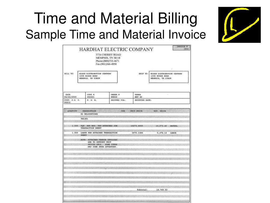 Time and Material Billing