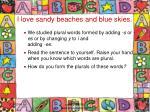 i love sandy beaches and blue skies