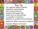 test tip