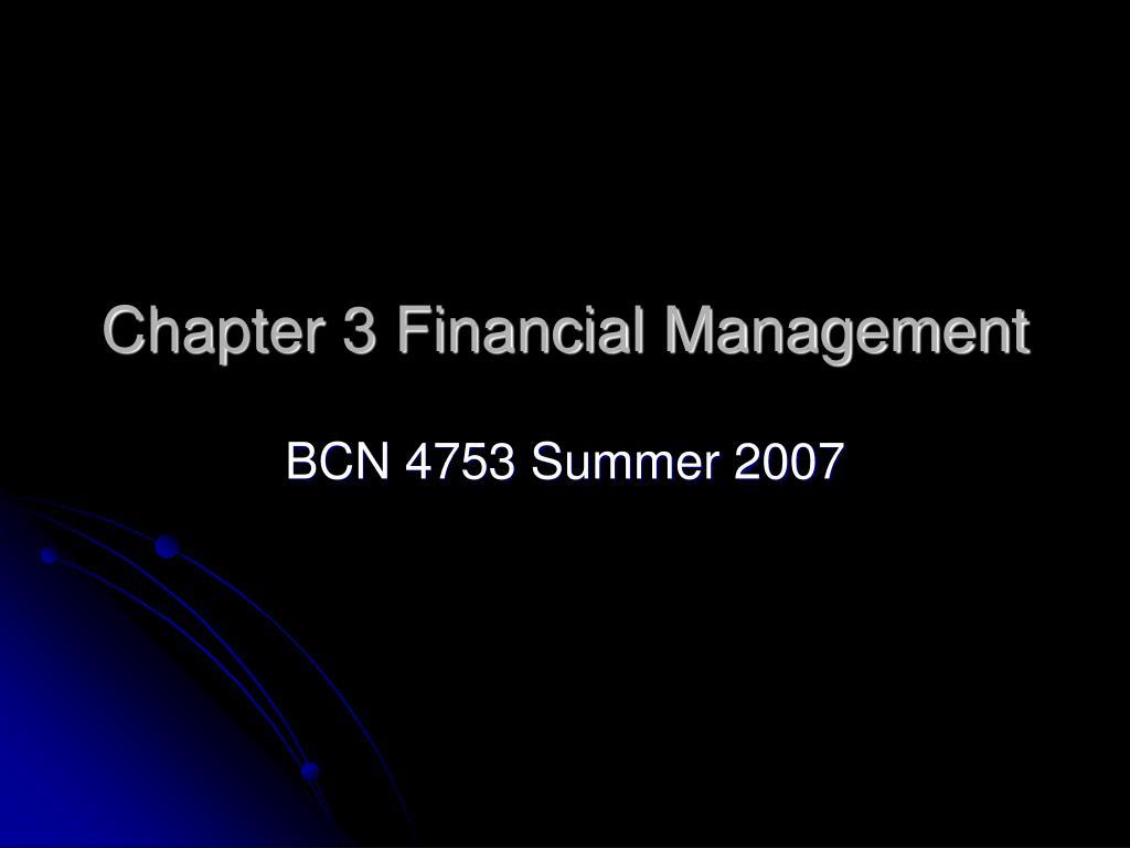 chapter 3 financial management l.