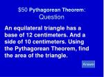 50 pythagorean theorem question