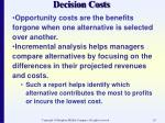 decision costs