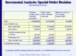 incremental analysis special order decision jens sporting goods inc