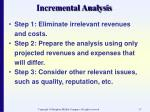 incremental analysis17
