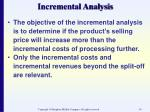 incremental analysis54