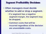 segment profitability decisions41