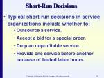 short run decisions58